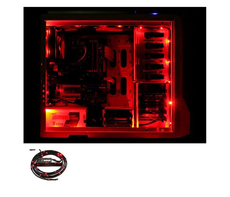 Nzxt Sleeved Led Kit Rojo 1m Cable