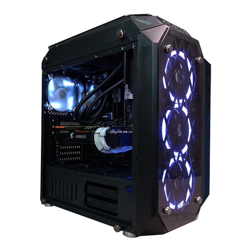 CoolPC Gamer XII Ti - i7 7700K / GeForce GTX 1070 8Gb / 16GB DDR4 / SSD 120Gb + 1Tb HDD / Z270