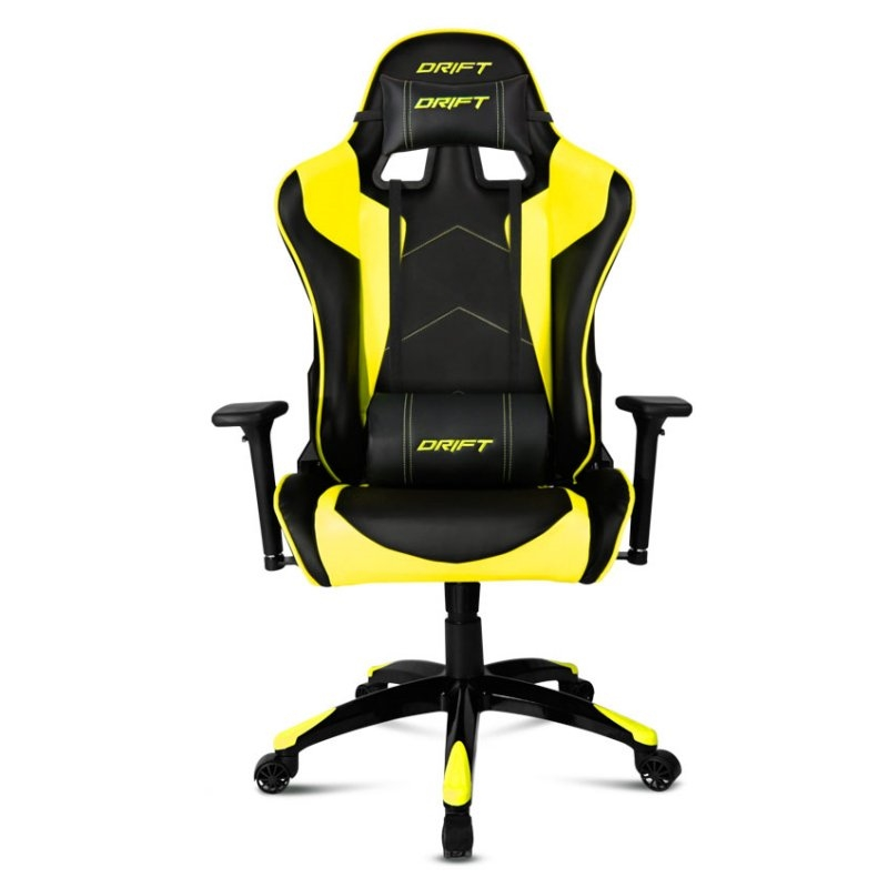 Drift dr300 negro amarillo silla gaming for Sillas para gamers