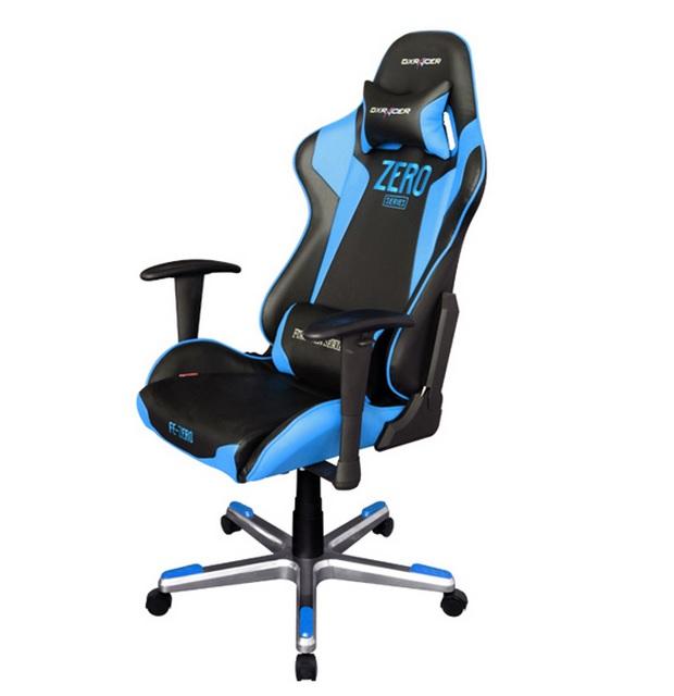 Dxracer f series oh fe00 nb zero negra azul silla gaming for Silla gamer dxracer