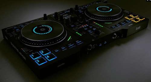 Hercules dj control jogvision mesa de mezclas dj for Mesa de mezclas fonestar