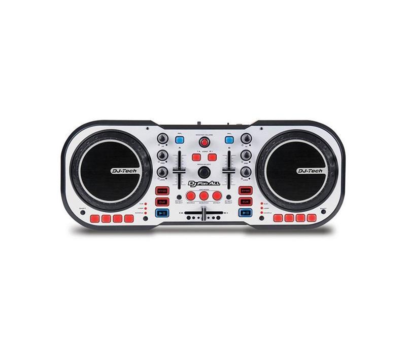 Mesa de mezclas dj tech dj for all usb auriculares for Mesa de mezclas dj