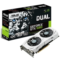 Asus GeForce GTX 1060 DUAL OC 3GB GDDR5 - Tarjeta Gráfica