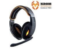 Krom S7VEN Gaming + Micro USB Negro/Naranja - Auriculares