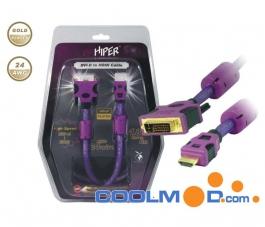 Cable HIPER - DVI-D a HDMI - 180 cm (HLC-1D1H-180)