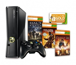 Consola Xbox 360 S 250Gb Extreme Pack - Fable III - Halo - GOW 2