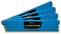 Corsair Vengeance LP Blue 16GB (4x4GB) 1600MHz (PC3-12800) CL9 - Memoria DDR3