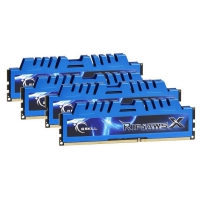 G.Skill RipjawsX Blue 32GB (4x8GB) 1600MHz (PC3-12800) CL9 - Memoria DDR3