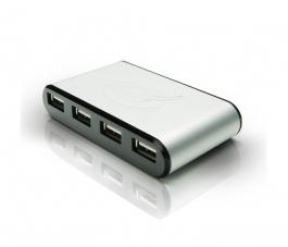 HUB USB 2.0 Conceptronic - 4 Puertos - Con Adaptador Corriente (C4USB2)