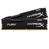 Kingston HyperX Fury Black 16GB (2x8GB) 2400 Mhz (PC4-19200) CL15 - Memoria DDR4
