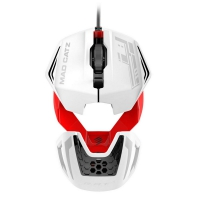 Mad Catz R.A.T.1 Wired 3500 DPI USB Blanco/Rojo - Ratón Gaming