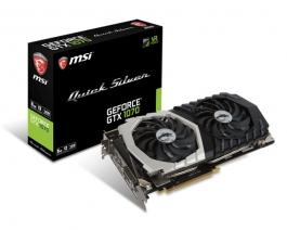 MSI GTX GeForce<span class='trademark-name'>&reg;</span> 1070 Quick Silver OC 8GB GDDR5 - Tarjeta Gráfica