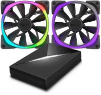 NZXT Aer RGB LED Para HUE+ Negro Pack 2 Uds + Controlador - Ventilador 12 cm