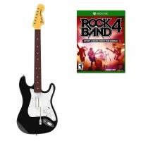 Rock Band 4 + Guitarra Stratocaster Negra Xbox One - Juego PS4