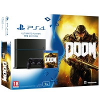 Sony Play Station 4 1TB + Doom - Videoconsola