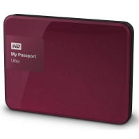 Western Digital My Passport Ultra 2TB Rojo Berry - Disco Duro Externo