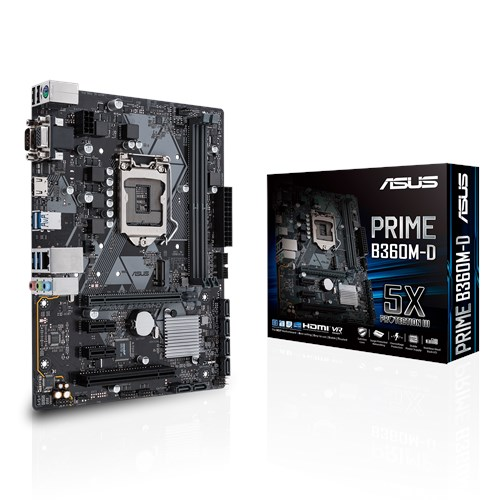 Asus Prime B360M-D Socket 1151 -  Placa Base