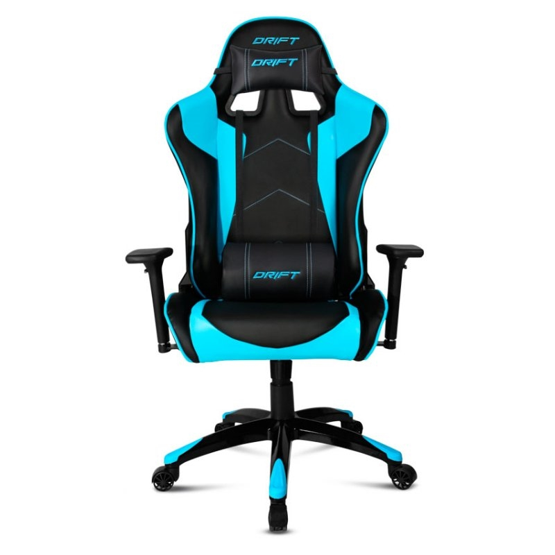 Drift dr300 negro azul silla gaming for Silla gaming con altavoces