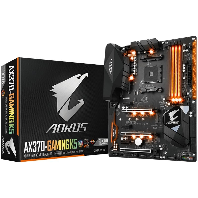 Gigabyte AX370 Gaming K5 Socket AM4 -  Placa Base