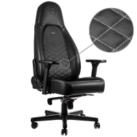 Noblechairs ICON Negro/Blanco Platino - Silla Gaming