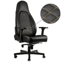 Noblechairs ICON PU Leather Negro/Oro - Silla Gaming